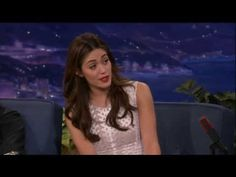 """Emmy Rossum Sings Opera For A Hot Dog - Conan on TBS - YouTube- Just click the found of youtube area below the screen if you see the snow and an """"error occurred"""" message to view. Enjoy!"""