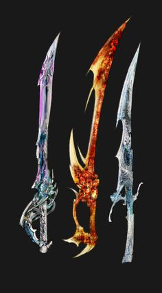 Weapons of the elements Water, Fire, and Air, the earthen blade long forgotten and lost like the others were till there seekers found them...