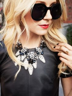 Wow. The Hema Jewel Bloom Necklace is absolutely stunning - on its own OR layered up. #baublebar