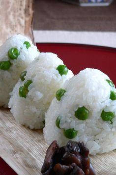Bean rice rice ball.