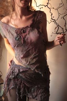 .love this raw natural clothing look, throw some stone jewelry on and go dance around outside, beautiful