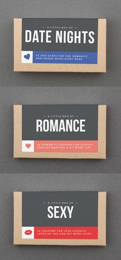 Here's another fun romantic gift idea for Valentine's Day! Give you sweetie a little box of romance. {aff}