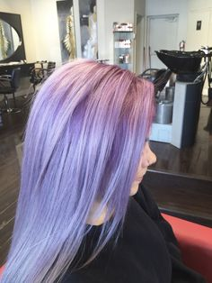 Lilac hair color by salon gardenia