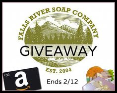 To show their appreciation, Falls River Soap Company is offering an awesome giveaway! Enter for your chance to win a $50 Amazon Gift Certificate and an awesome Gift Basket from Falls River Soap Company! GOOD LUCK!