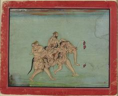 Erotic Composite of an Elephant, Attributed to Chokha, Indian,Rajasthan, Devgarh c1800