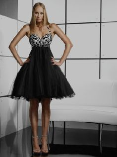 black and white party dresse