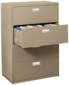 Sandusky Lee LF6A424-04 600 Series 4 Drawer Lateral File Cabinet, 19.25