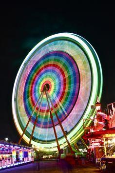 Noria* by Andrea Montis Cano, via 500px Colorful Ferris wheel