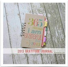 2013 GRATEFUL Journal - How to Make ***i need this. I find myself looking a lot at the negative perspectives especially on bad days so this would be nice to remind myself of the good things that happened that day and next year I can go back and re read***