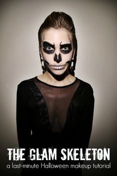 How-To: Glam Skeleton Halloween Makeup