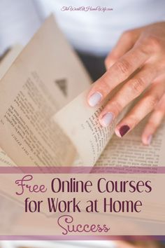 Is a lack of a specific skill holding you back? If you are looking to bust through your work at home barriers, here are several sites offering free online courses relating to home and online business needs.