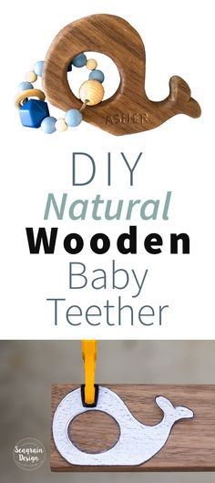 How to make a natural walnut wood baby teether with silicone beads, finished with coconut oil.
