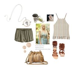 """❣Mother Of Dragons❣"" by ordinary-fashion on Polyvore featuring moda, Miguelina, Ancient Greek Sandals, Wander Beauty ve Diane Von Furstenberg"
