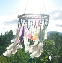 """Dreamcatcher Dream Catcher Mobile """"Where Dreams Begin"""" by TheBigSkyPlace on Etsy https://www.etsy.com/listing/156646306/dreamcatcher-dream-catcher-mobile-where"""