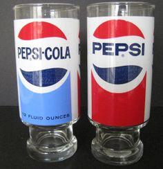 Pepsi Glass Pair, Late 1960s Diet Pepsi, Pepsi Cola, Coke, Coffee Vending Machines, Nostalgia, Always Coca Cola, Pop Cans, Retro Pop, My Childhood Memories