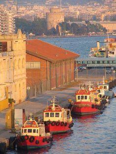 Port of Thessaloniki, Macedonia, Greece Beautiful Islands, Beautiful Places, Myconos, Greek Beauty, Southern Europe, Greece Travel, Greek Islands, Athens, Places To Go
