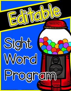 Editable Sight Word Program - this made a big difference with my students! Great for enriching kinder students. paid