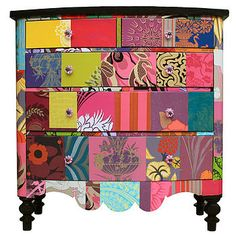 Love this patchwork chest!