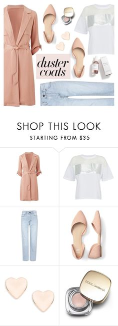 """""""Long Layers: Duster Coats"""" by sandralalala ❤ liked on Polyvore featuring Calvin Klein, Yves Saint Laurent, Ted Baker, Dolce&Gabbana and Herbivore"""