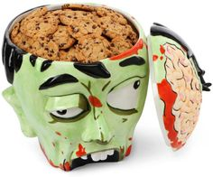 Scary Halloween Decorations and Unique Gift Ideas Zombie Head Cookie Jar