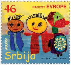 "Commemorative postage stamps are issued by the Public Enterprise PTT ""Serbia"" to mark special occasions."