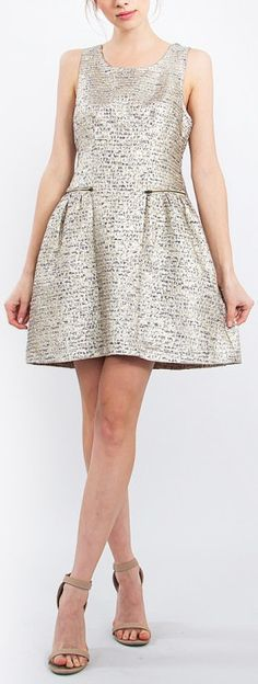 This Tinsel Tweed Dress is the perfect dress for a special night out. #streetstyle