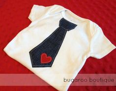 Baby Valentine's Day Onesie Size 6 months by bugarooboutique $17.00 ready to ship!