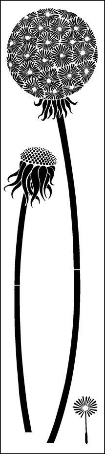 Dandelion stencil Auf stencil-library.com http://www.pinterest.com/livberit/silhouette-maskinen/