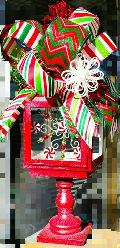 Check out this item in my Etsy shop https://www.etsy.com/listing/257584603/christmas-lantern-with-swag-christmas