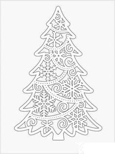 Christmas Ornament Template, Christmas Templates, Christmas Printables, Christmas Stencils, Christmas Paper, Christmas Colors, Kirigami, Christmas Crafts, Christmas Decorations