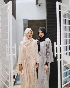 Shirin Al Athrus ( Hijab Dress Party, Hijab Outfit, Hijab Casual, Kebaya Hijab, Kebaya Lace, Dress Muslim Modern, Muslimah Wedding Dress, Dress Wedding, Party Fashion
