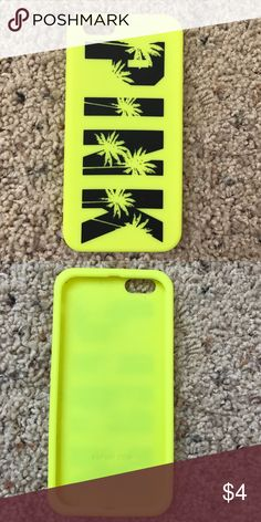 iPhone 6 Case Neon yellow PINK iPhone 6 Case PINK Victoria's Secret Accessories Phone Cases