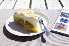 rhubarb pie by herzensart -find on flickr-