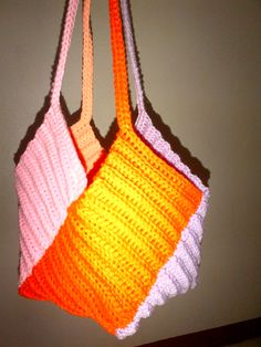 A smaller version of my Crochet Windmill Bag