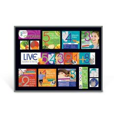 "Includes two 5-1/2"" x 17"" title header pieces (become 5-1/2"" x 34"") and a variety of photo and information cards, laminated for durability. Sized for a 3' x 4' bulletin board. Can be easily adapted to fit any sized board. Bulletin board not included. Remember the ""numbers to live by"" with this bulletin board kit featuring the things to include every day to lead a healthy lifestyle: • 5 servings of fruits and vegetables • 4 glasses of water • 3 good laughs • 2 hours or less screen time • 1… Nutrition Education, Kids Nutrition, Health And Nutrition, Fiber Rich Foods, My Plate, Fruit Drinks, Kids Health, Balanced Diet, Physical Activities"