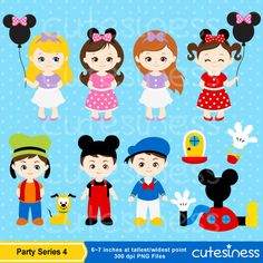 Mickey Mouse Party Clipart Mickey Mouse Clipart by Cutesiness