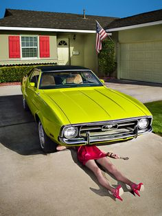 Subversive Housewives by John Mireles, via Behance (Hey!  that's my old mustang...only yellow)