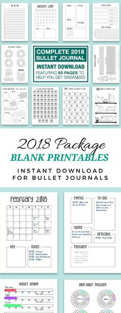 Pre-made printables work if you don't have the time or the cash to build your own bullet journal! For only $2, it's not bad! • A4 12 month starter kit | monthly calendar | planner | diary | budget | weight loss | habit tracker | digital instant download #bujo #bulletjournaling #printable #monthlyspread #ad