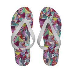 knickers flip flops #sharonturner #zazzle #summer #fun