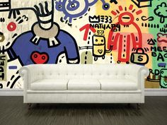Grafitti sprayed on a wall Wall Mural-Urban,Modern Graphics-Eazywallz