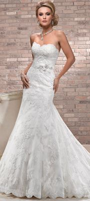 Maggie Sottero Spring 2013 - Alana Ivory Lace & Tulle Wedding Dress