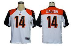 game #14 Dalton white Nike Cincinnati Bengals jersey  ID:659400777  $23