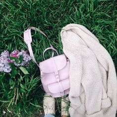 GRAFEA Spring Awakening, Cherry Blossom, Leather Backpack, Fashion Backpack, Lilac, Backpacks, Bags, Flowers, Handbags