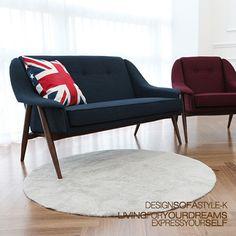 Bergman retro sofa for two