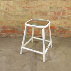 Add a splash of industrial colour to your home with out Kitchi dinner stool! Awesome rustic, metal and recycled wooden furniture. Surf Cafe, Metal Stool, Low Stool, Metallic Paint, Industrial Furniture, Bar Stools, Rustic, Chair, Antiques