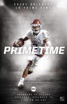 2016 Oklahoma Football on Behance - football - Sport Football Ads, Football Photos, Football Design, College Football, Stanford Football, Football Football, Football Program, Sports Advertising, Sports Marketing