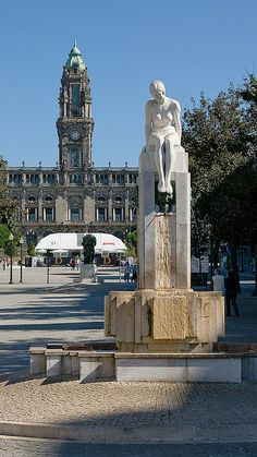 Avenida dos Aliados, Porto, Portugal Travel to Porto in Portugal to enjoy the architecture and beauty of the city. Visit Portugal, Portugal Travel, Spain And Portugal, Porto City, Portuguese Culture, Douro, Most Beautiful Cities, Travel Tours, Places To See