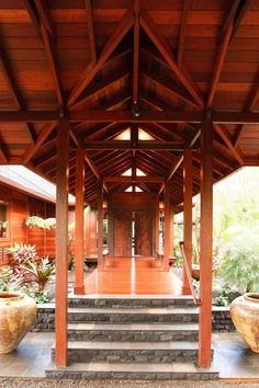 Entry of modern tropical architecture