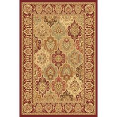 New Vision Panel Rectangle Rug-Cherry 3'11'' x 5'3'': The New Vision Panel rectangle rug sets a new standard in affordability and…