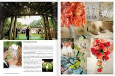 Tropical Mosaic Garden ceremony and reception  #luminairefoto  #weddingsillustrated